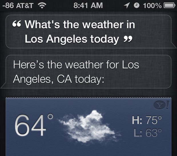 Get Weather with Siri
