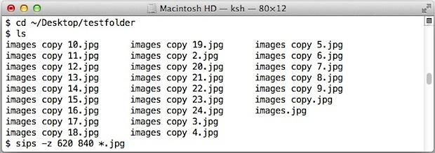 Пакетное изменение размера группы изображений с помощью sips