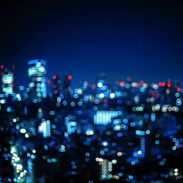 Blurred city lights
