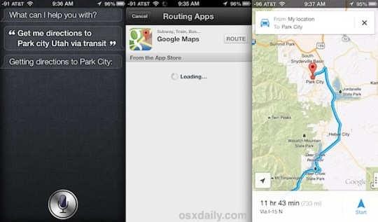 Get Siri to Provide Directions from Google Maps Siri Directions from Google Maps