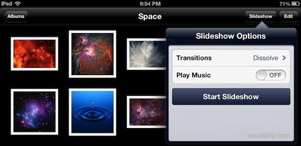 Change The Photo Slideshow Timer On Ipad