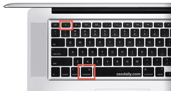 Сочетание клавиш Mac для дублирования экрана