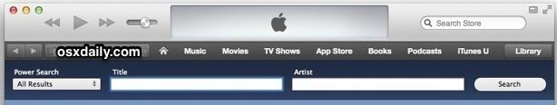 Power Search в iTunes