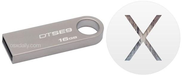 USB-накопитель с установщиком OS X Yosemite