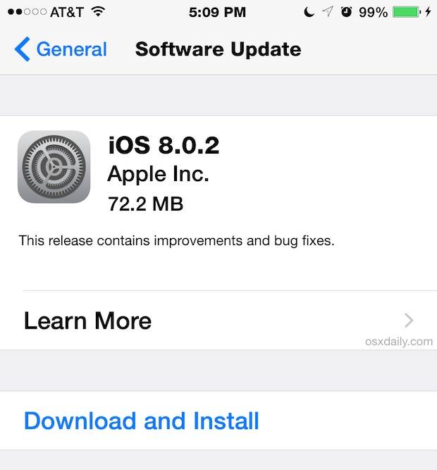 iOS 8.0.2 OTA Download