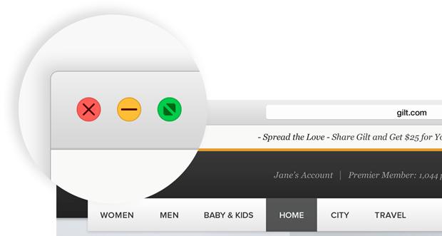 Зеленая кнопка увеличения в OS X