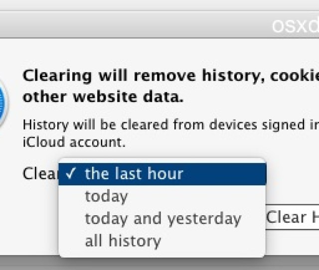 Clear Recent Safari History And Site Data