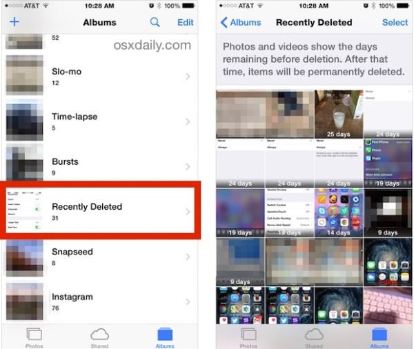Восстановить удаленные изображения на iPhone