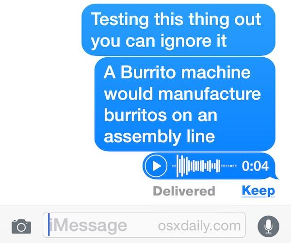 Звуковое сообщение в iOS