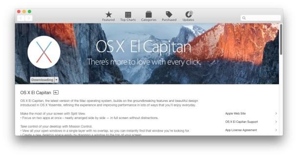 OS X El Capitan скачать