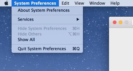 Раскрывающееся меню светового режима Mac