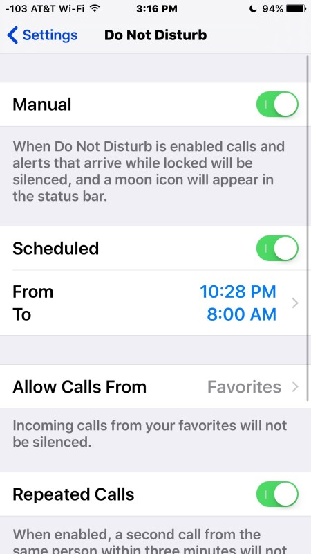 Turn on Do Not Disturb mode