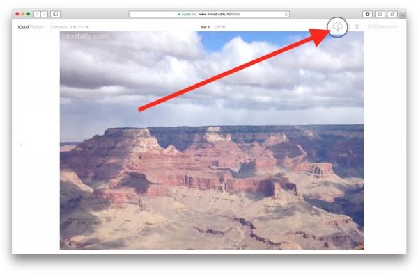 Скачать фото из iCloud