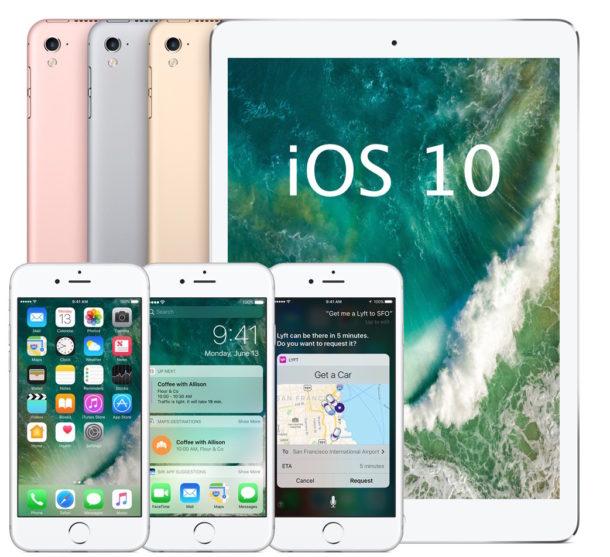 Список совместимых с iOS 10 устройств