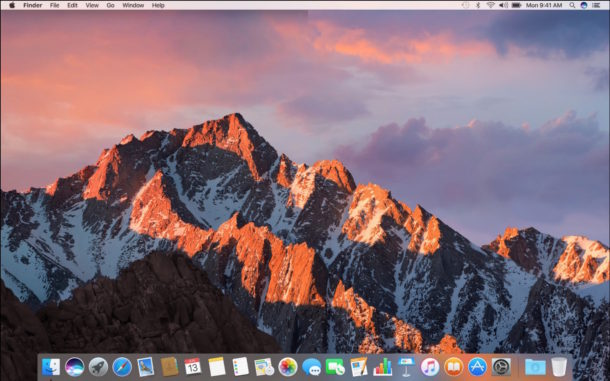 MacOS Sierra desktop screenshot