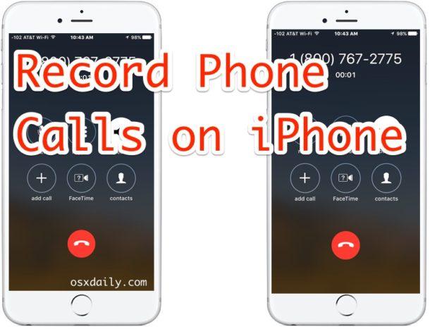 Как записывать телефонные звонки с iPhone