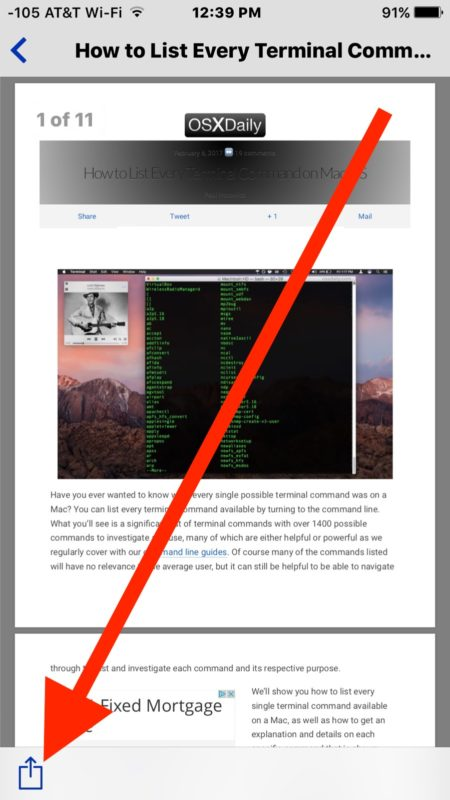 How to Print to PDF from iPhone