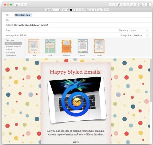 Канцелярские товары в почте для Mac