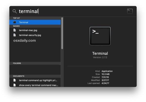 Откройте терминал для SSH-клиента Mac
