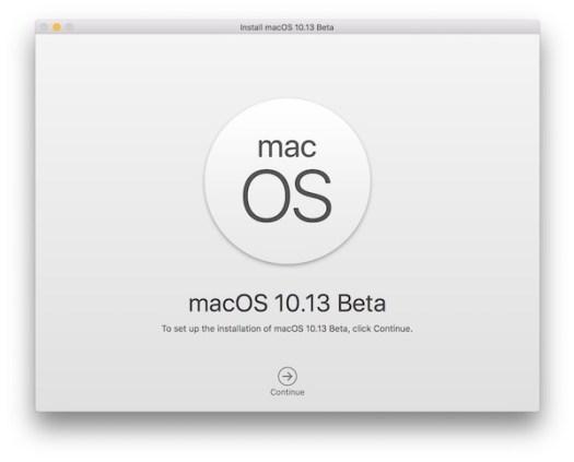 Install macOS High Sierra beta via USB installer