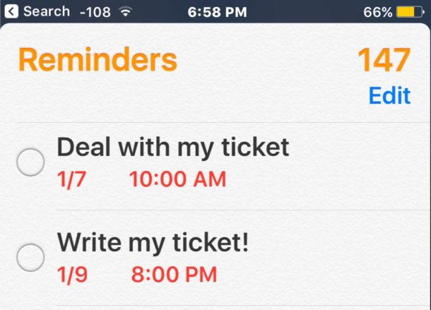 How to delete all reminders in iOS in a Reminders list