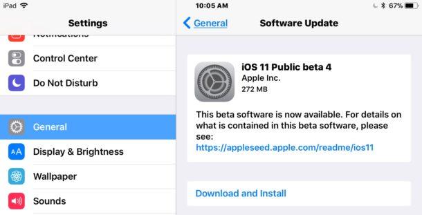 Публичная бета 4 iOS 11 скачать