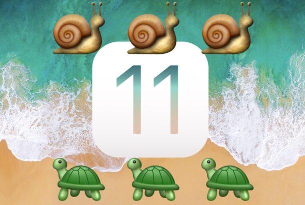 Ускорьте iOS 11, если она кажется медленной