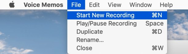 сочетания клавиш для голосовых заметок на Mac