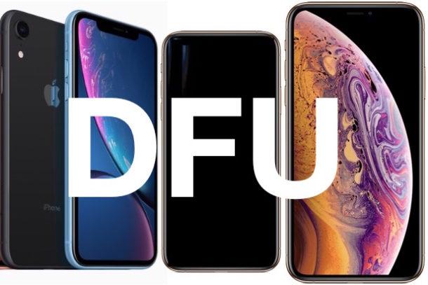 Как войти и выйти из режима DFU на iPhone XS, XR, XS Max