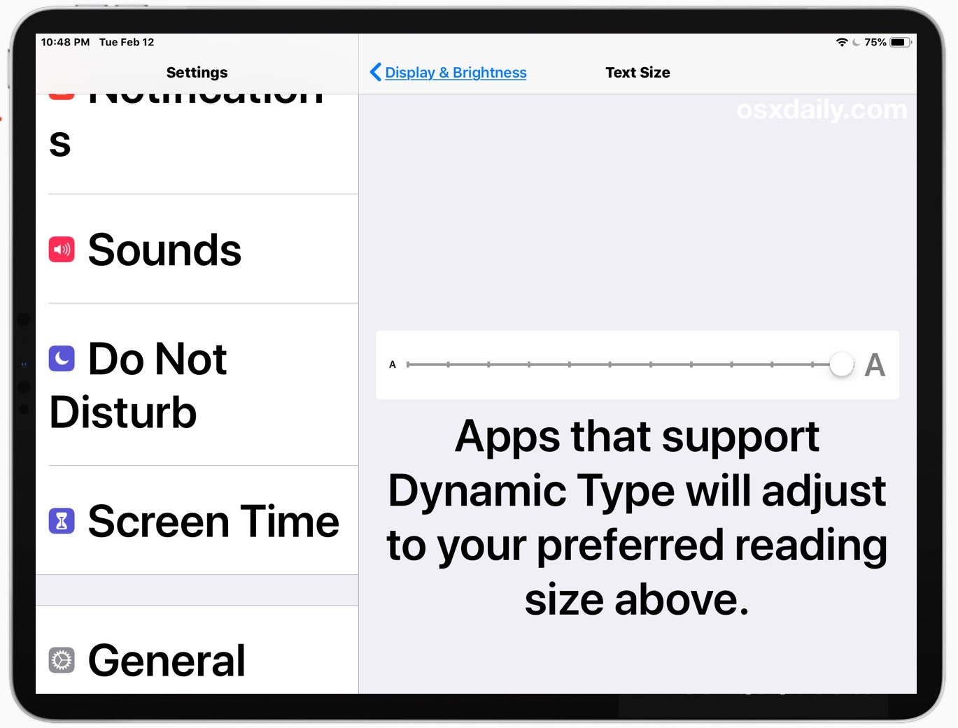 How To Make Text Size Much Larger On Ipad