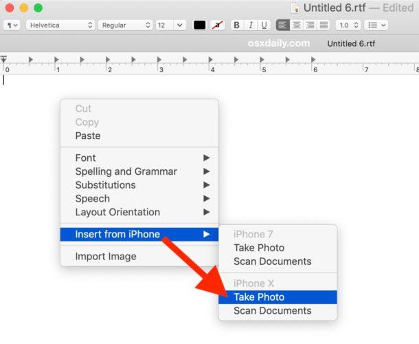 Как использовать Continuity Camera из приложения Mac
