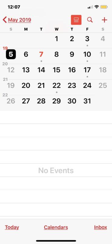 Праздники удалены из календаря на iOS