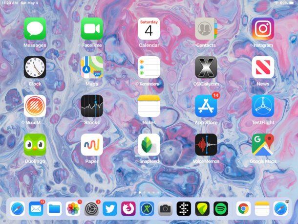Пример скриншота с iPad