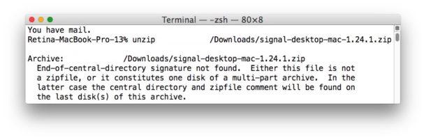 Как исправить ошибку Zip-файла Конец подписи центрального каталога не найден