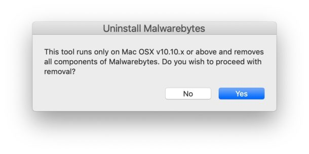 Mac에서 맬웨어바이트 제거