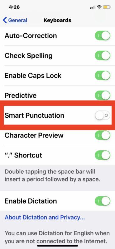Как набирать прямые кавычки на iPad и iPhone вместо фигурных кавычек