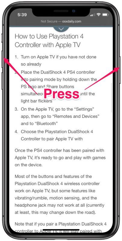 Cómo hacer capturas de pantalla de página completa en Safari
