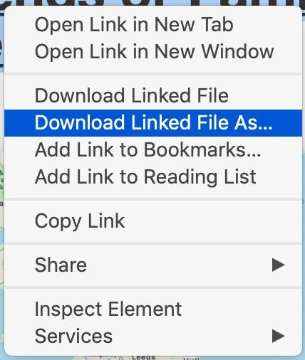 Download linked PDF file from Safari on Mac