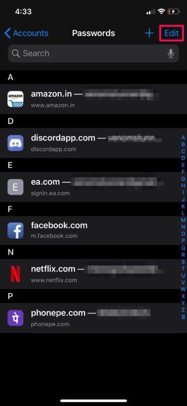Как удалить старые пароли и учетные записи с iPhone и iPad