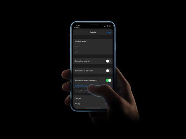Как использовать напоминание при обмене сообщениями на iPhone и iPad