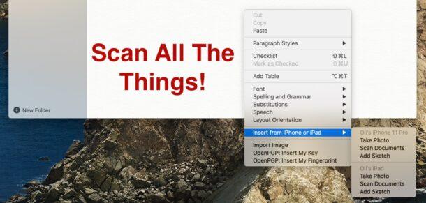 Как сканировать заголовок документов
