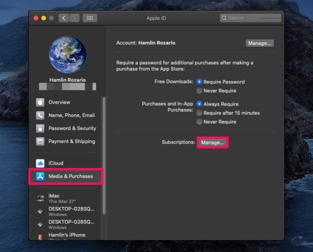 Как отменить подписку на Mac