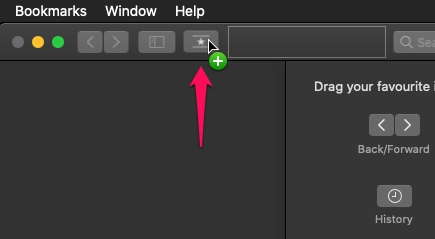 Как настроить панель инструментов Safari на Mac