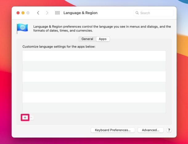Как изменить язык для определенных приложений на Mac