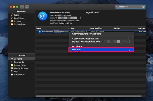 Как редактировать сохраненные пароли на Mac с доступом к связке ключей