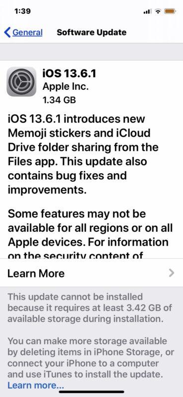 iOS 13.6.1 скачать
