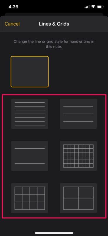 Как изменить стиль оформления бумаги в заметках на iPhone и iPad