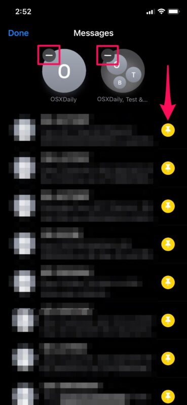 Как закреплять и откреплять разговоры в сообщениях для iPhone и iPad