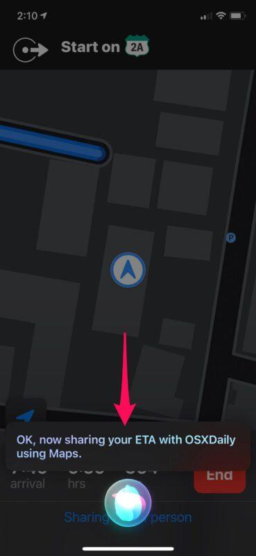 Как заставить Siri делиться ETA при навигации с помощью Apple Maps