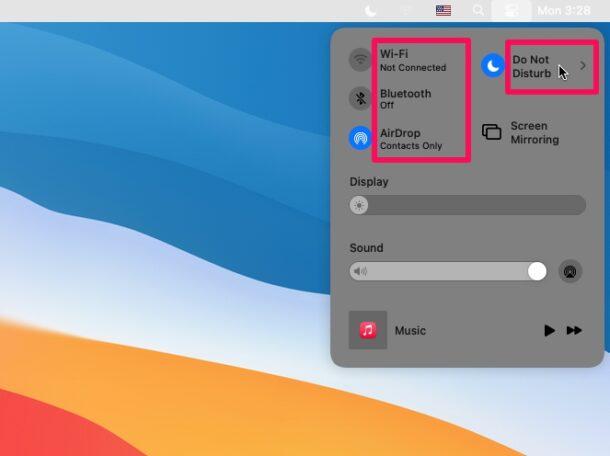 Как использовать Центр управления на MacOS